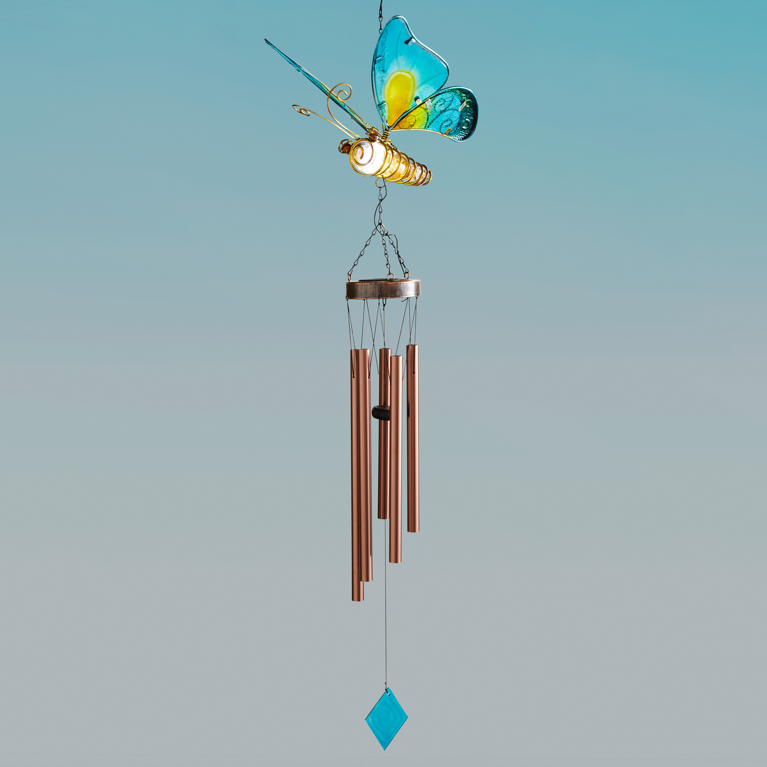 Butterfly LED Solar Wind Chimes