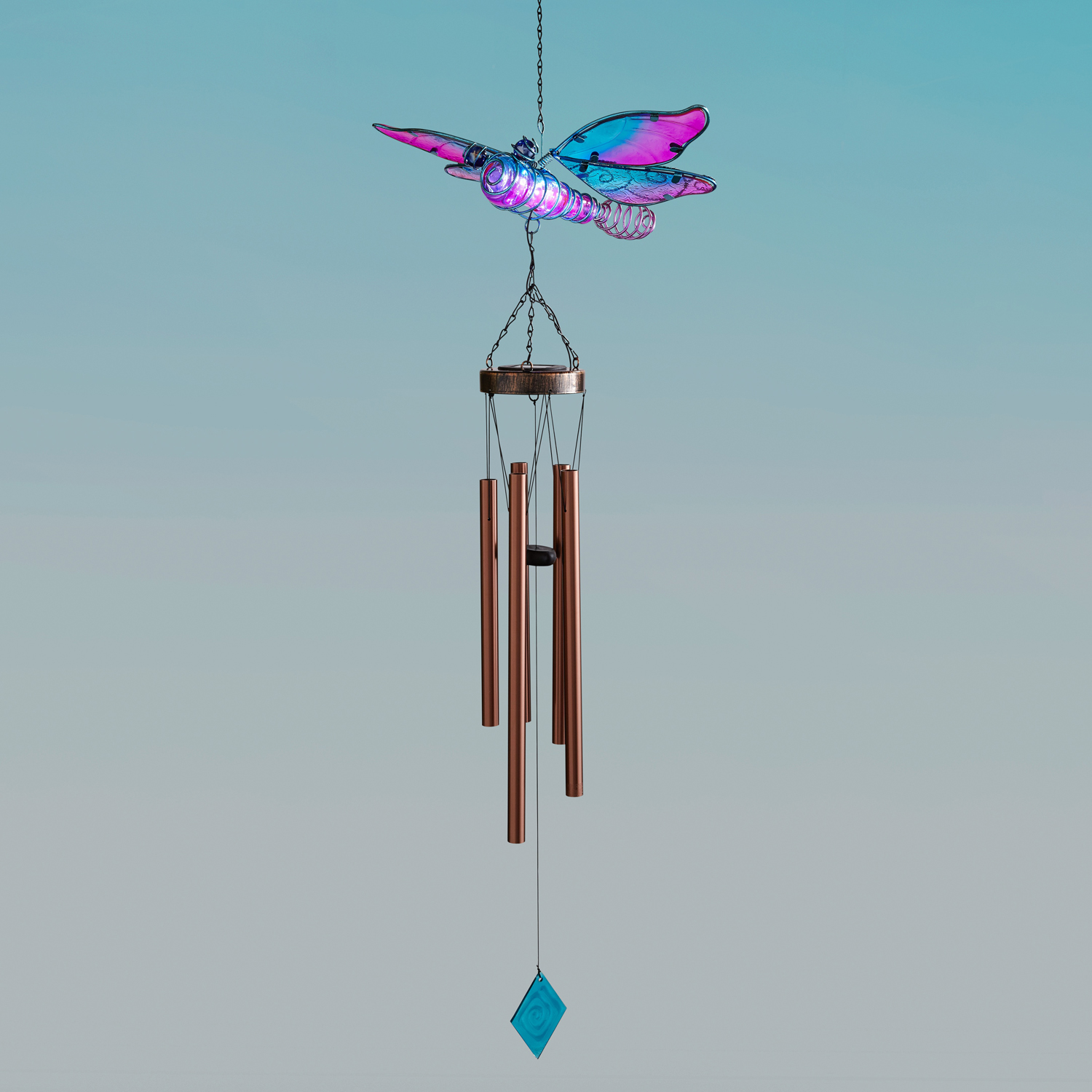Dragonfly LED Solar Wind Chime