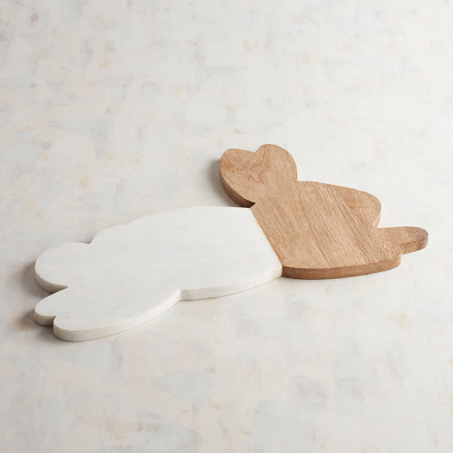Bunny Marble & Wood Serving Board