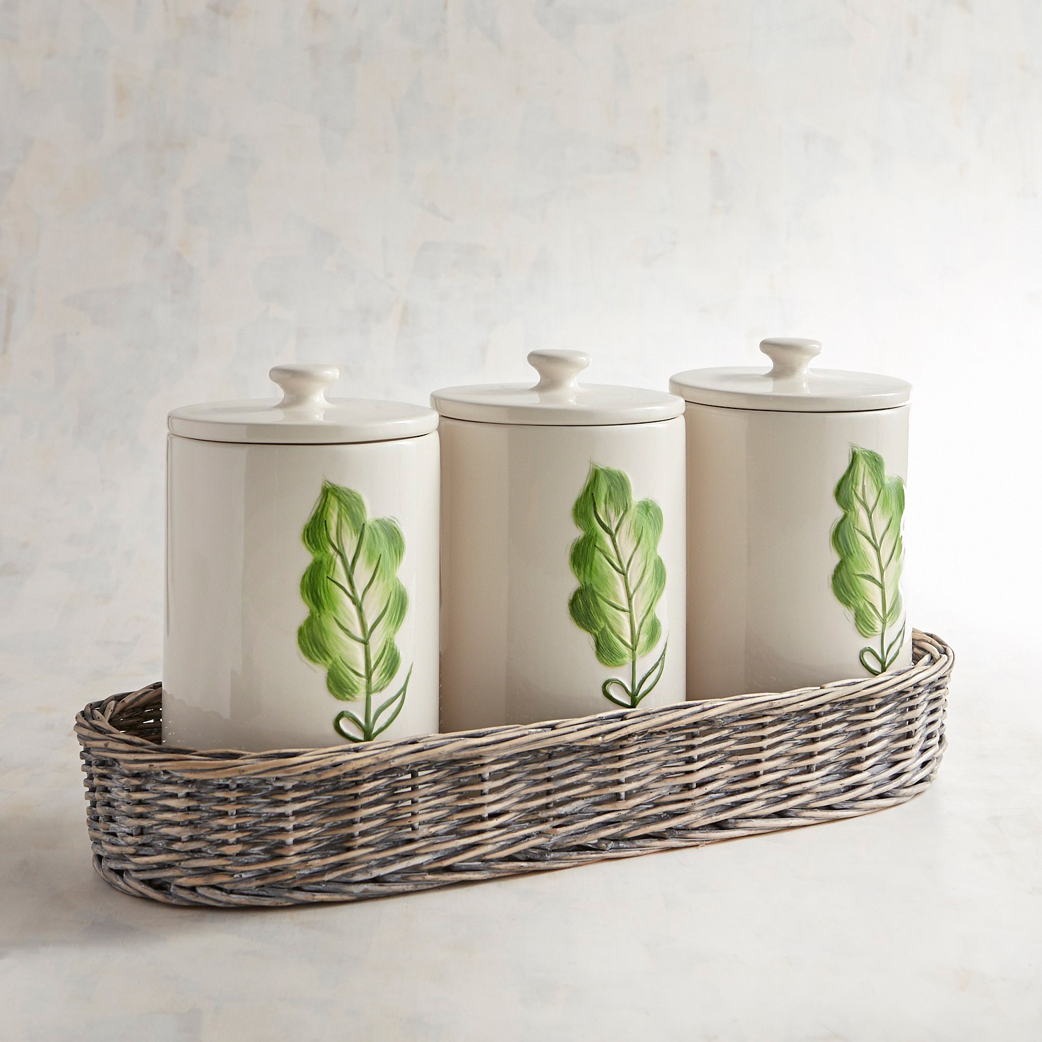 Willow Basket Canisters, Set of 3