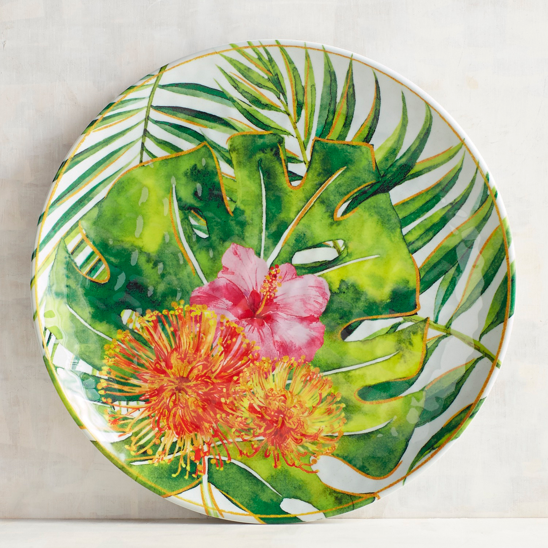 Tropical Glam Melamine Dinner Plate
