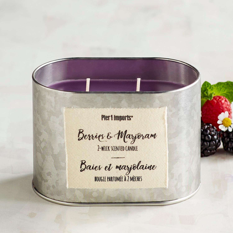 Berries & Marjoram Filled 2-Wick Candle