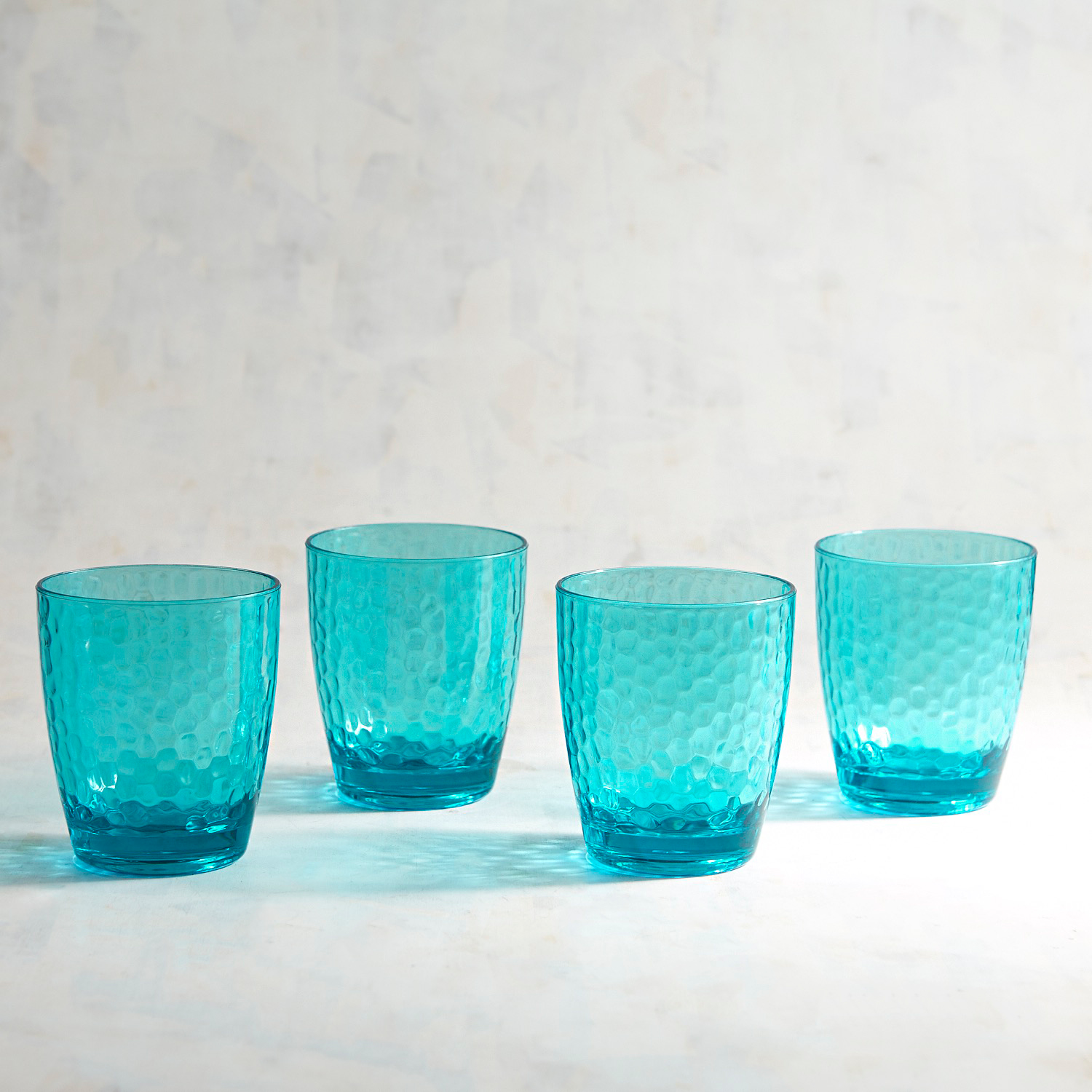 Barrel Hammered Double Old Fashioned Tumblers