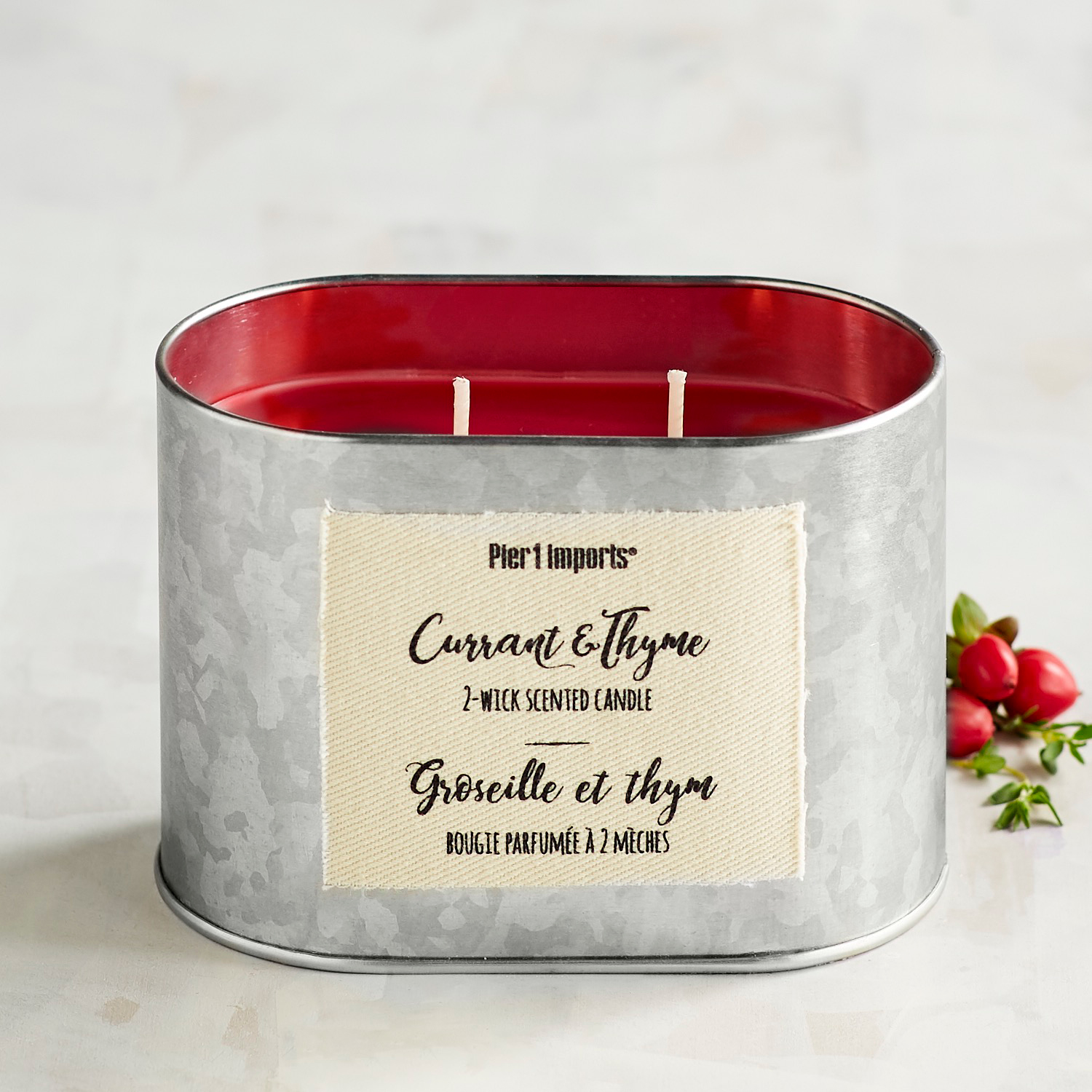 Currant & Thyme Filled 2-Wick Candle