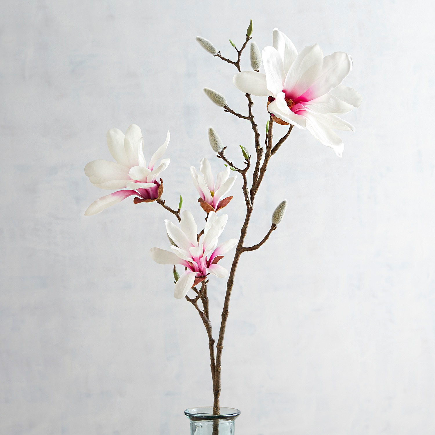 Faux White Japanese Magnolia Branch