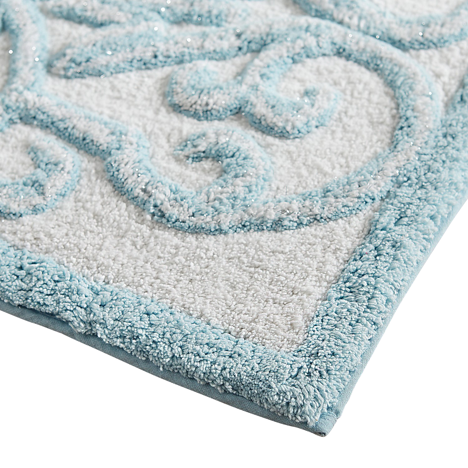 Scroll Metallic Bath Rug