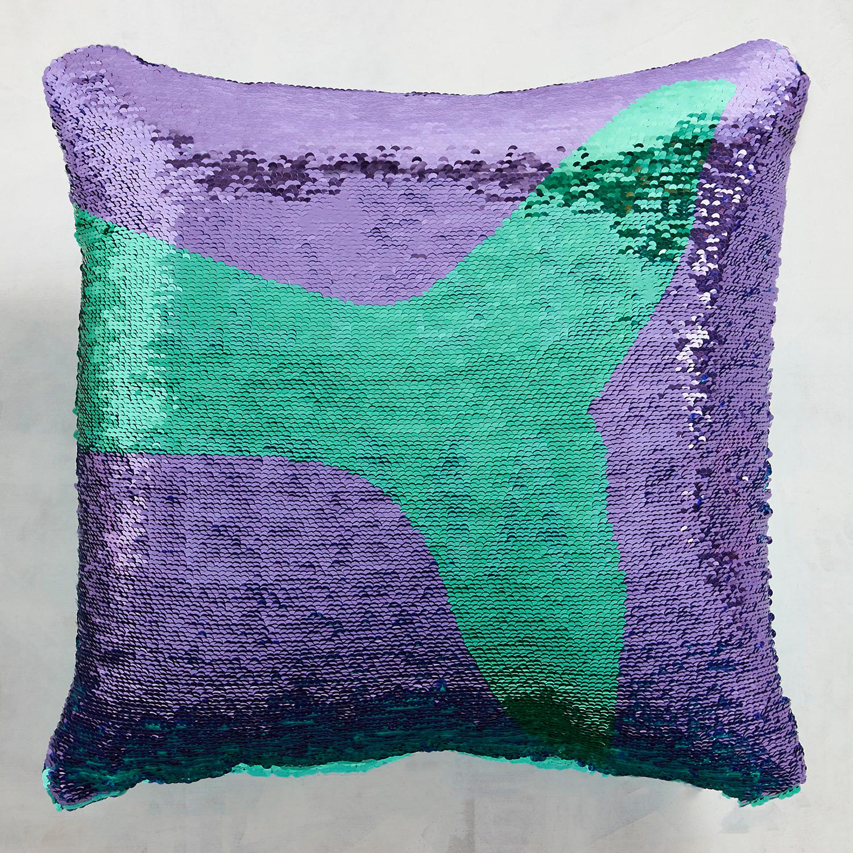 Let's Be Mermaids Reversible Sequins Mermaid Pillow