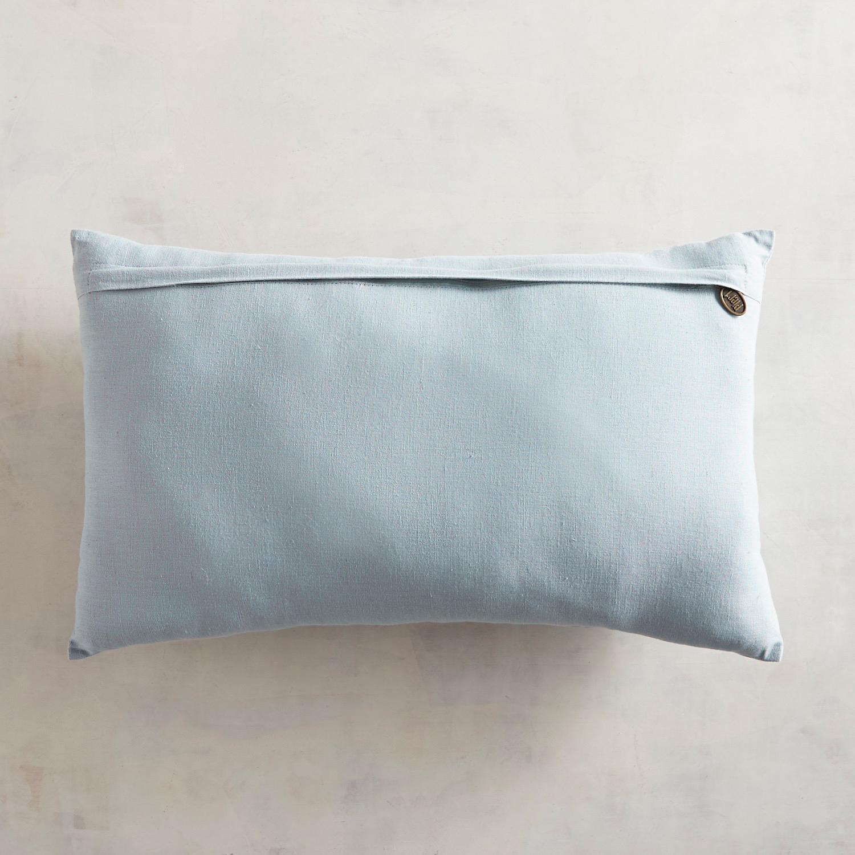 Embroidered Big Blooms Lumbar Pillow