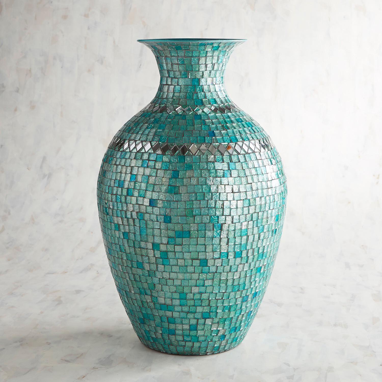 Turquoise Mosaic Vase