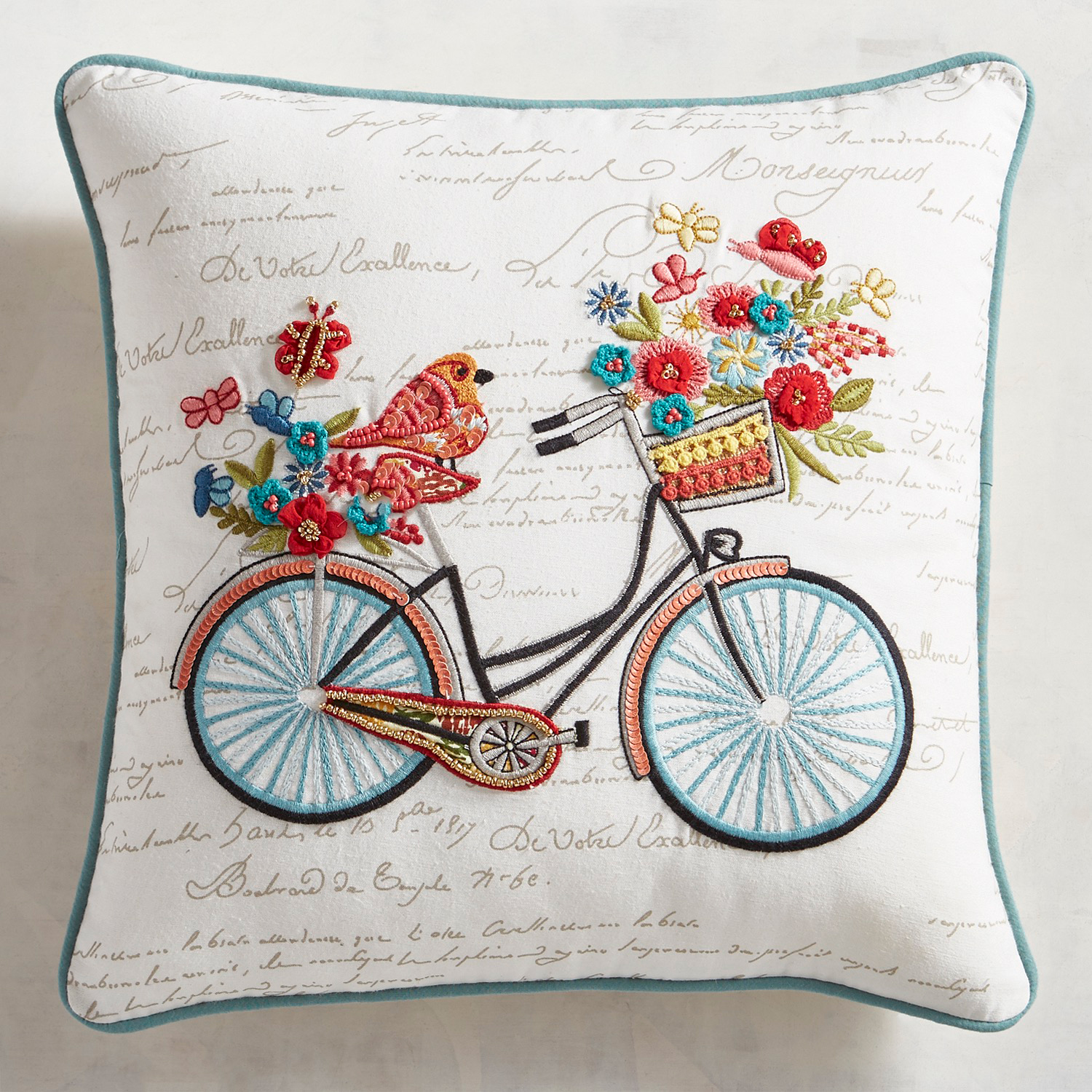 Floral Bicycle Pillow
