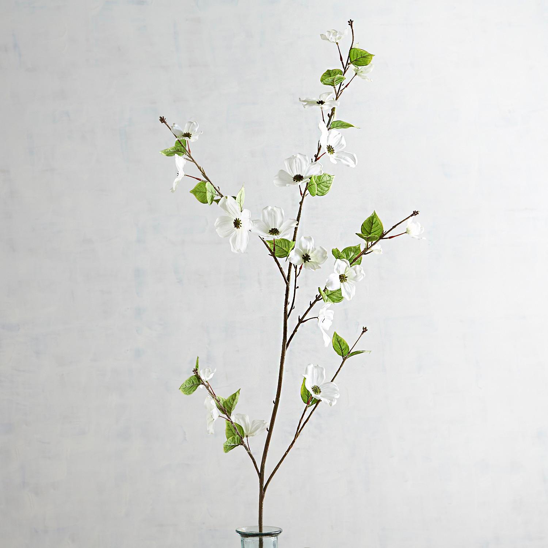 Faux White Dogwood Branch