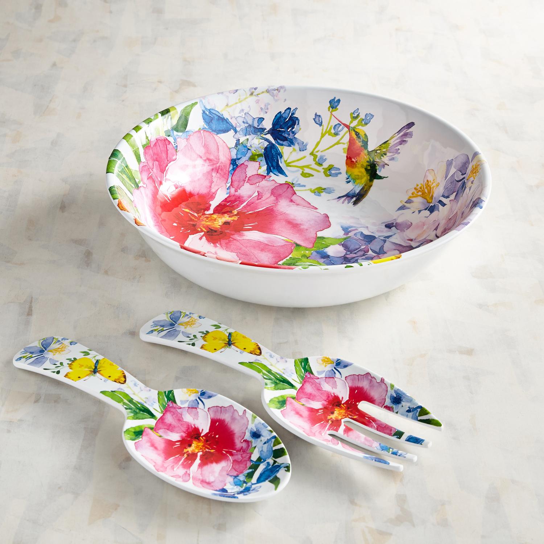 Homestead Floral Melamine Serving Bowl Set