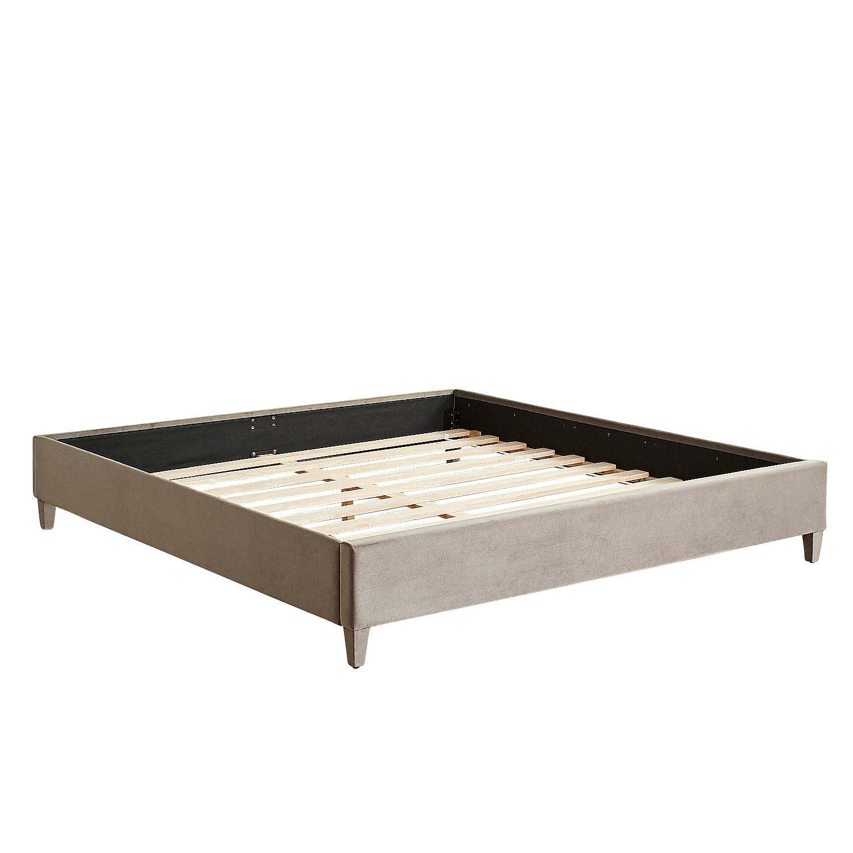 Poshe Velvet Upholstered King Smoke Bed Frame
