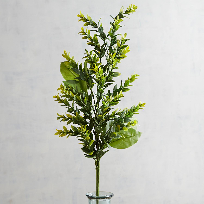 Faux Lemon Leaves Spray