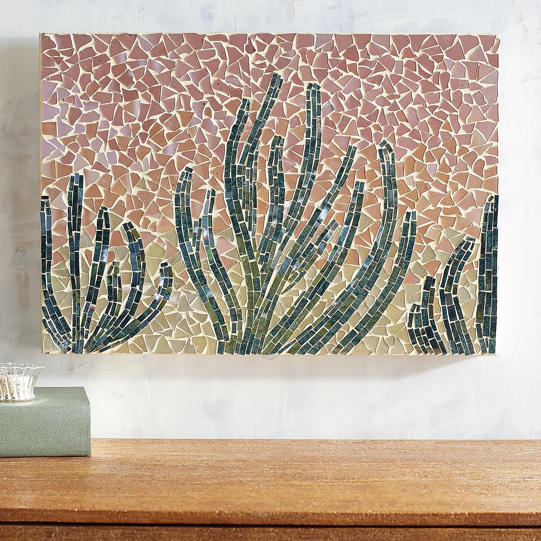 Cactus Mosaic Wall Panel