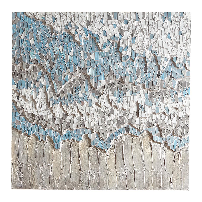Sky Blue Abstract Mosaic Wall Panel