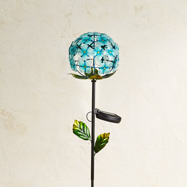LED Solar Blue Hydrangea Garden Stake