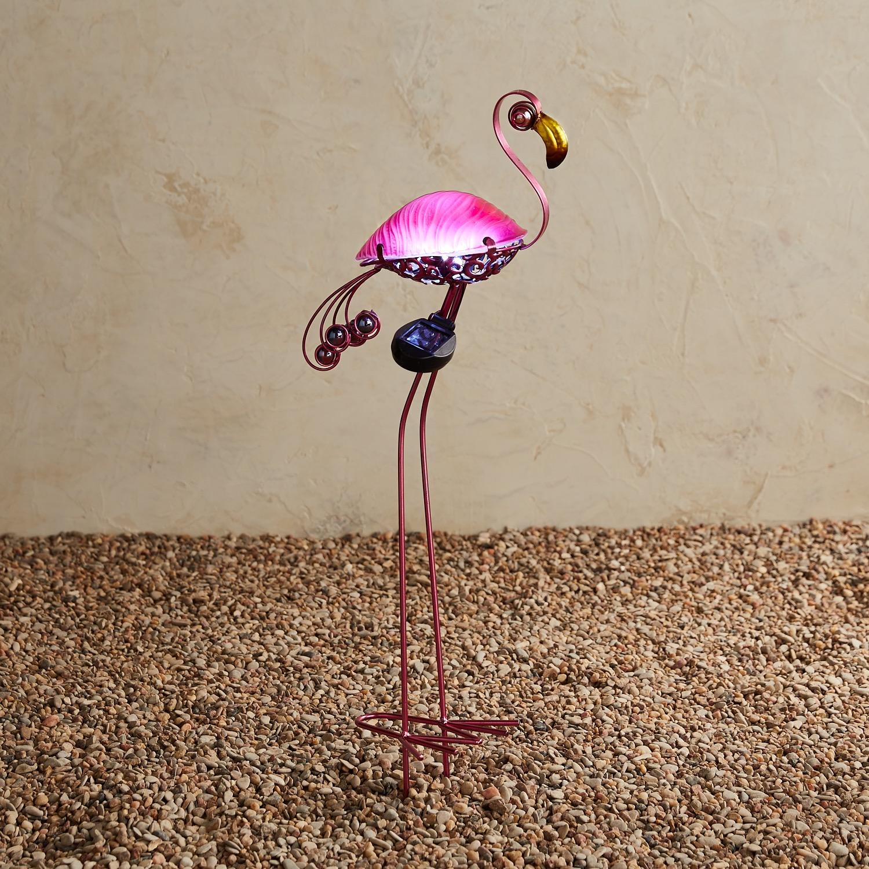 LED Solar Pink Flamingo Garden Stake