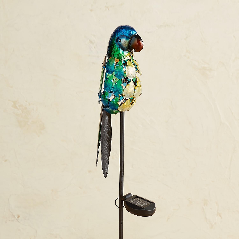 LED Solar Turquoise Parrot Garden Stake