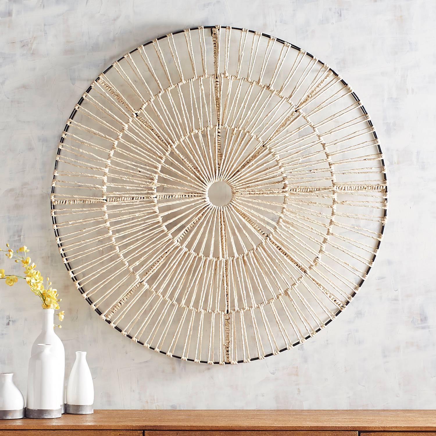 Natural Woven Round Wall Decor