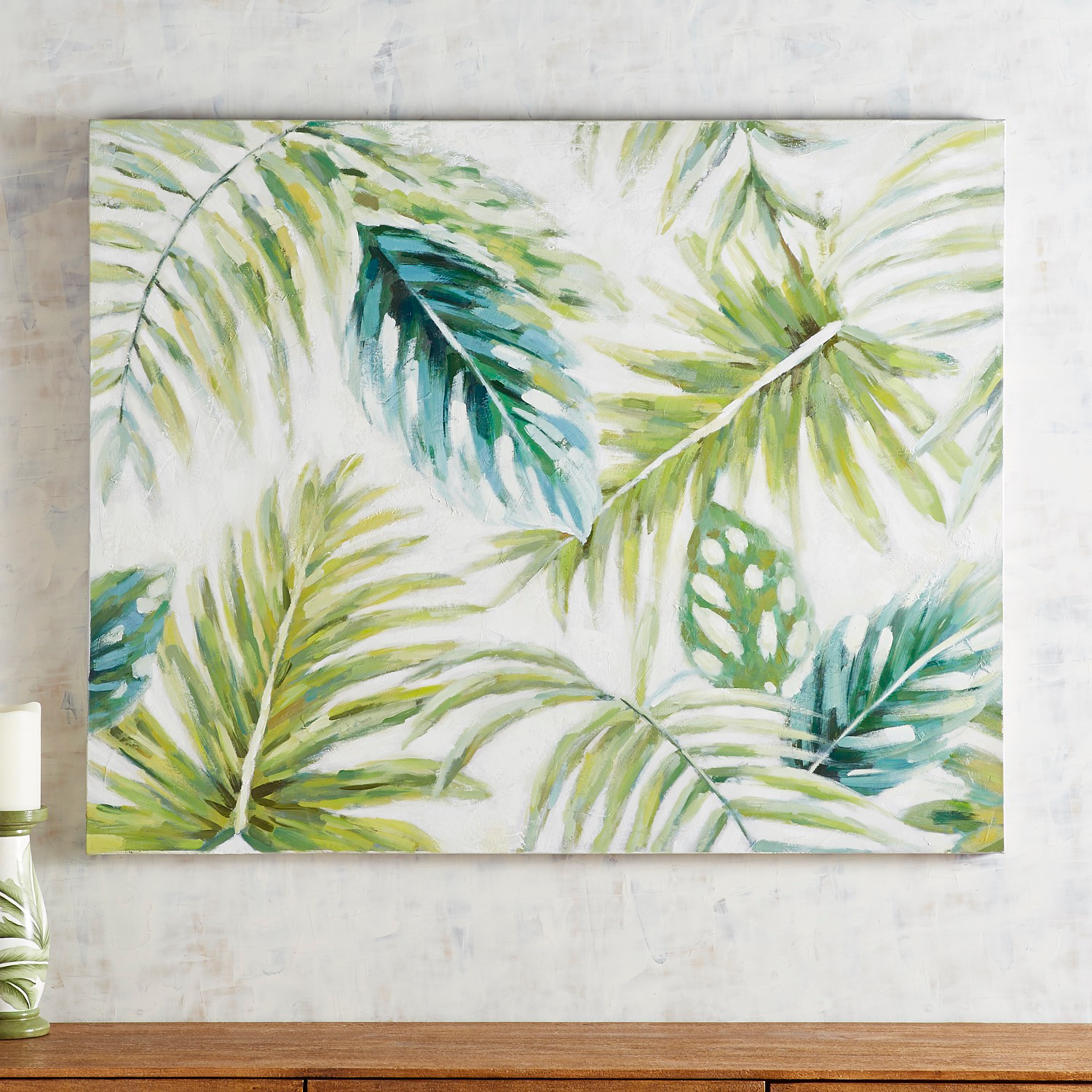 variation thumbnail of Tropical Leaves Wall Art