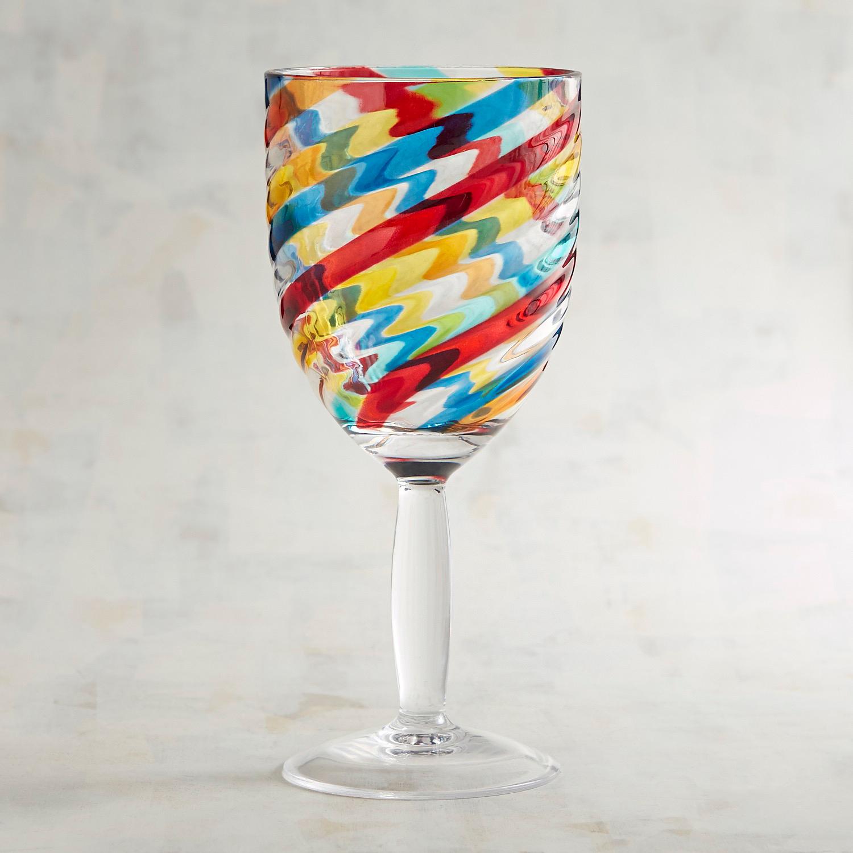 Multicolor Swirl Acrylic Goblet