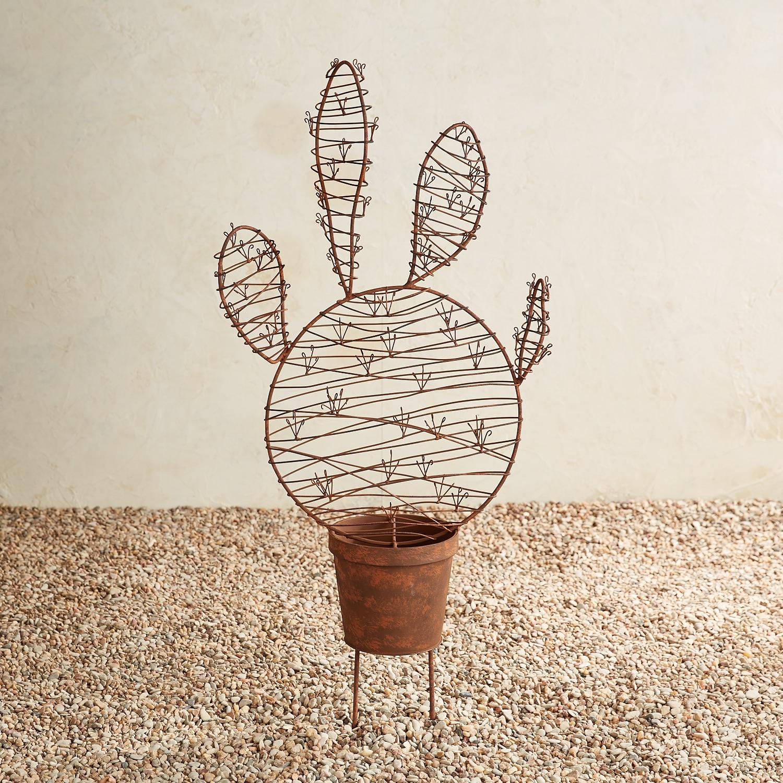 Metal 4-Armed Cactus Garden Stake