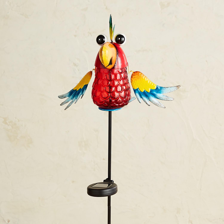 LED Solar Head Up Crazy Bird Garden Stake