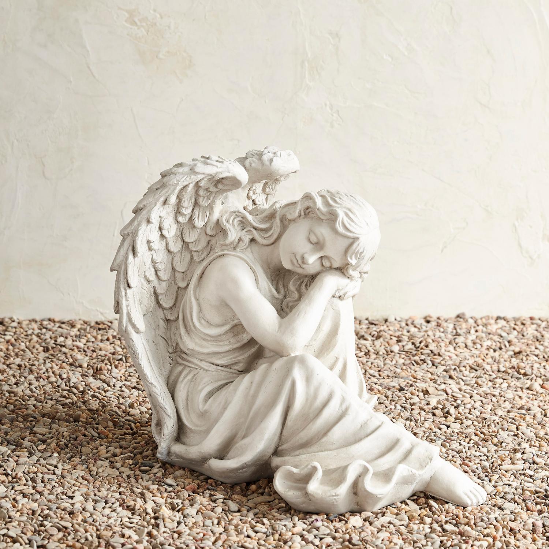 Pondering Angel Garden Statue
