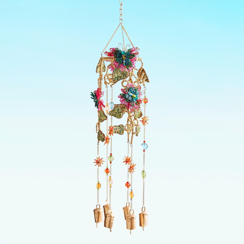 Beaded Butterflies Wind Bells