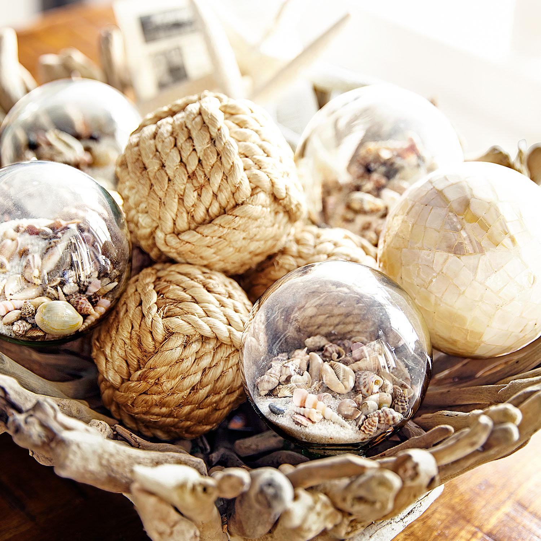Seaside Glass Decorative Sphere