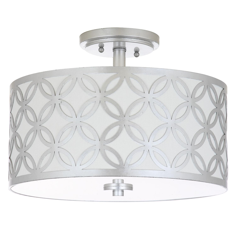 Silver Petal Pendant Light