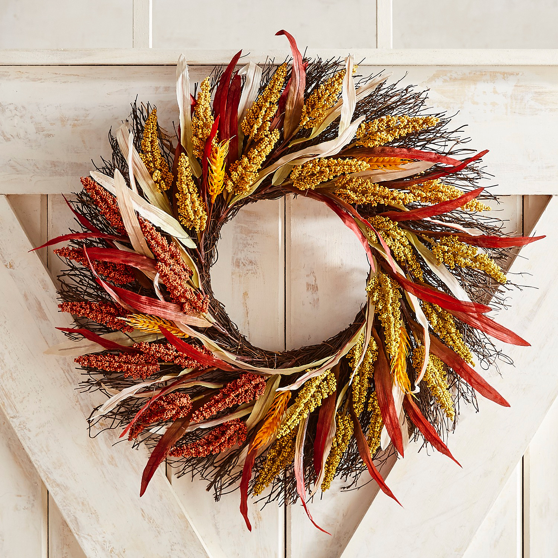 "Sunset Harvest 20"" Wreath"