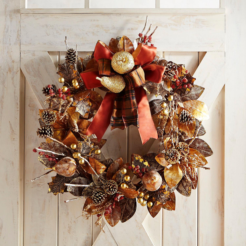 "Luxe Elegant Harvest 28"" Wreath"