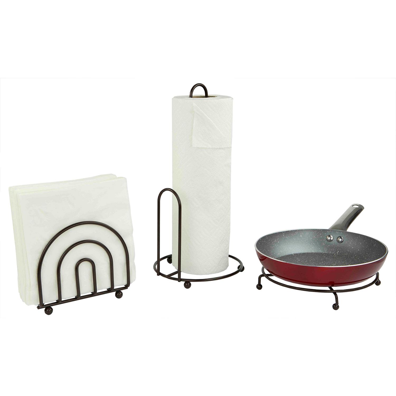 3-Piece Bronze Pantryware Set