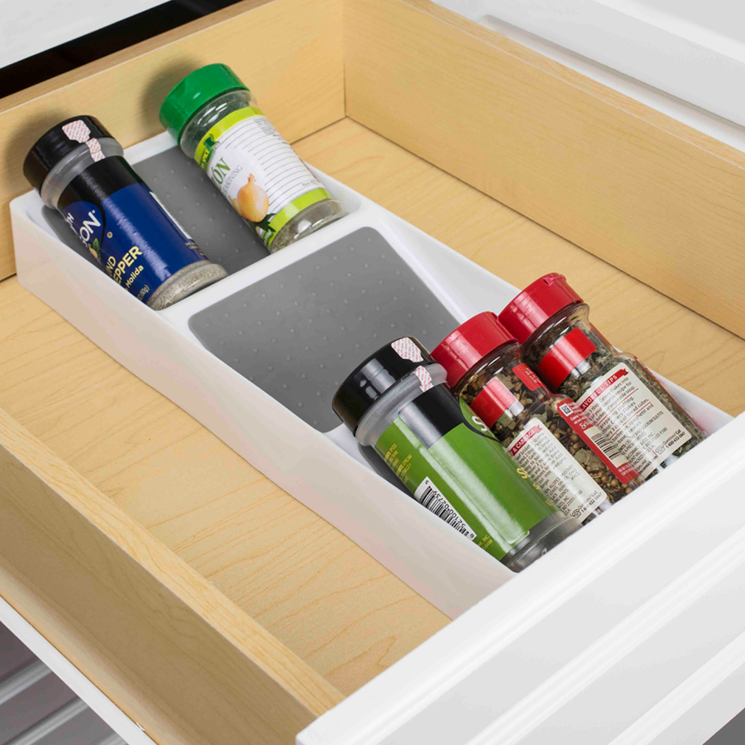3-Section Drawer Spice Rack