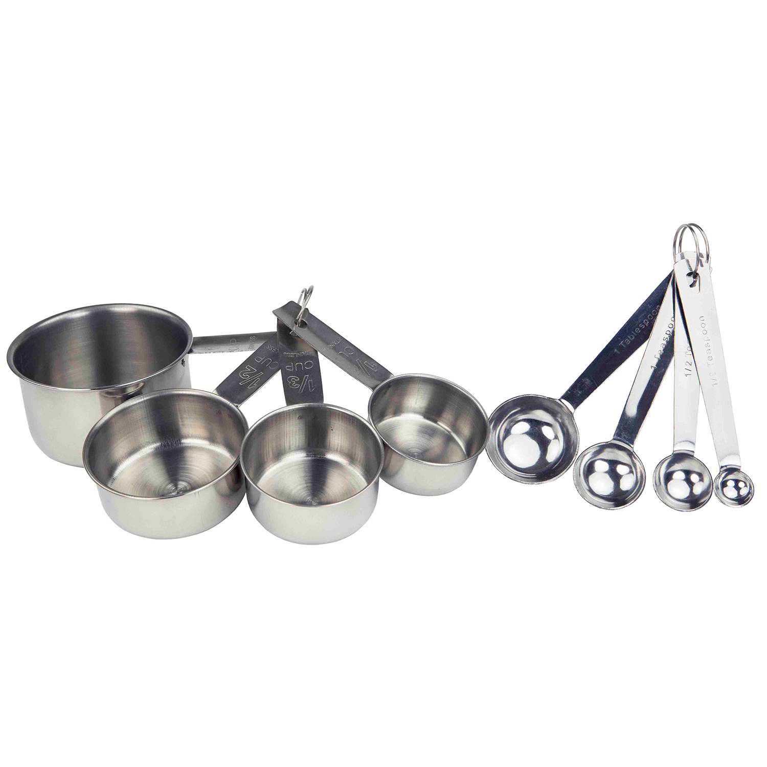 8-Piece Stainless Steel Measuring Cup Set