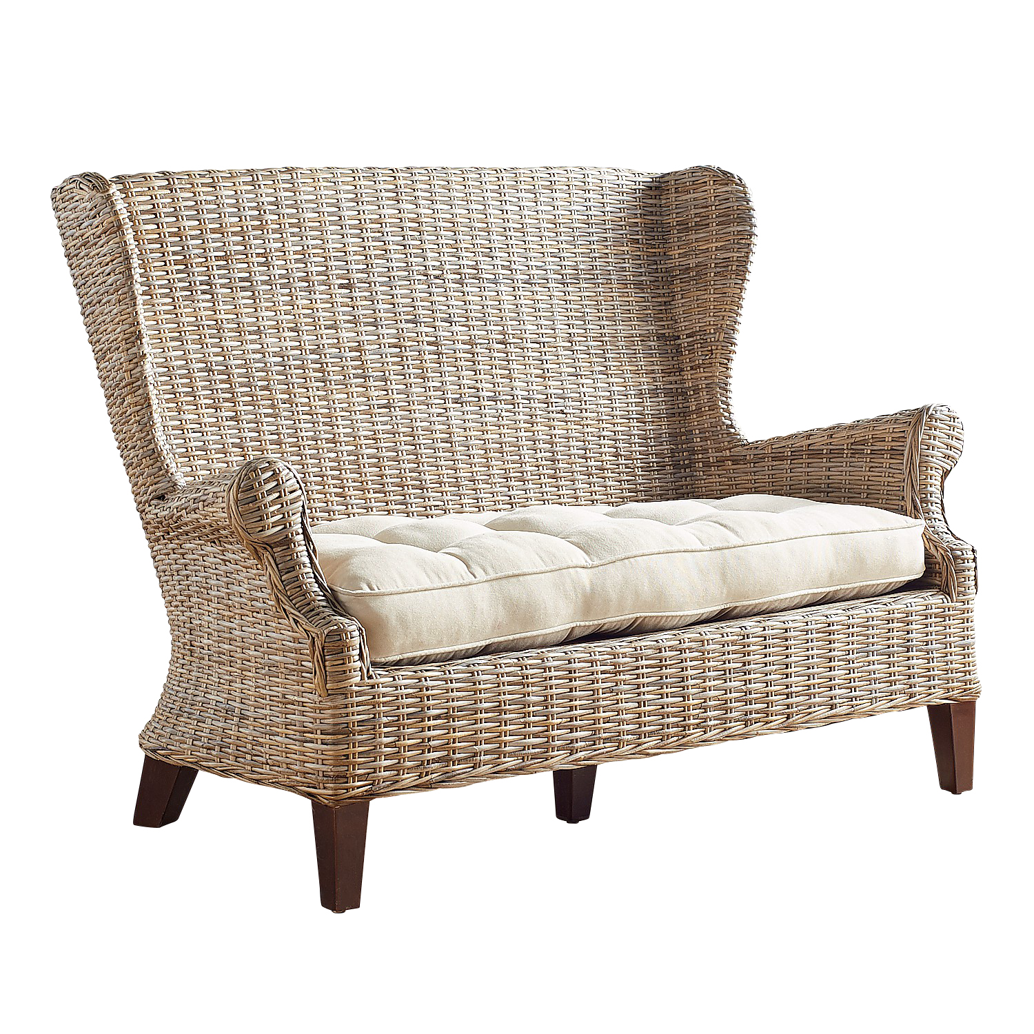 Loxley Gray Wash Settee