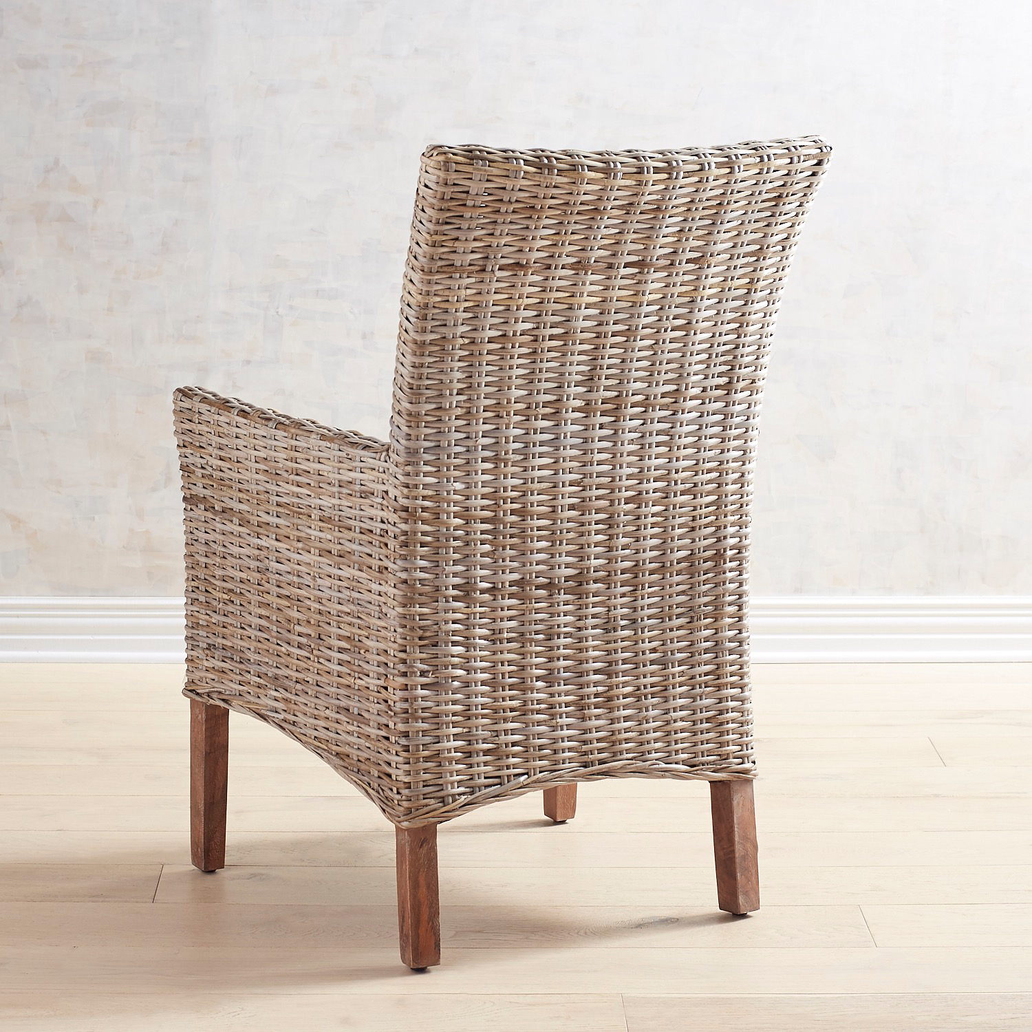 Kubu Dining Armchair with Natural Stonewashed Legs