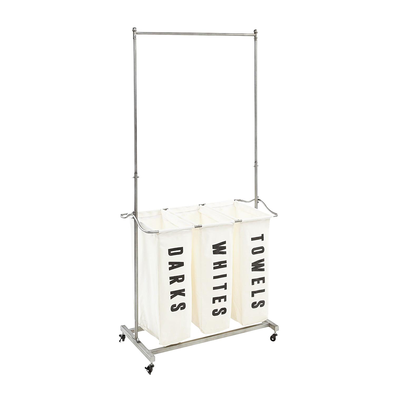 Tall Laundry Cart with Iron Shelf