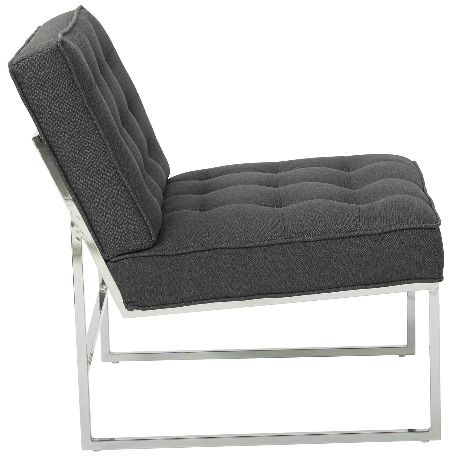 Anthony Charcoal Chair with Silver Frame