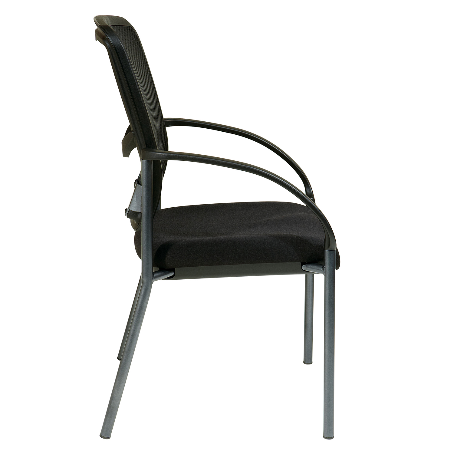 Black Back Visitors Chair with Arms
