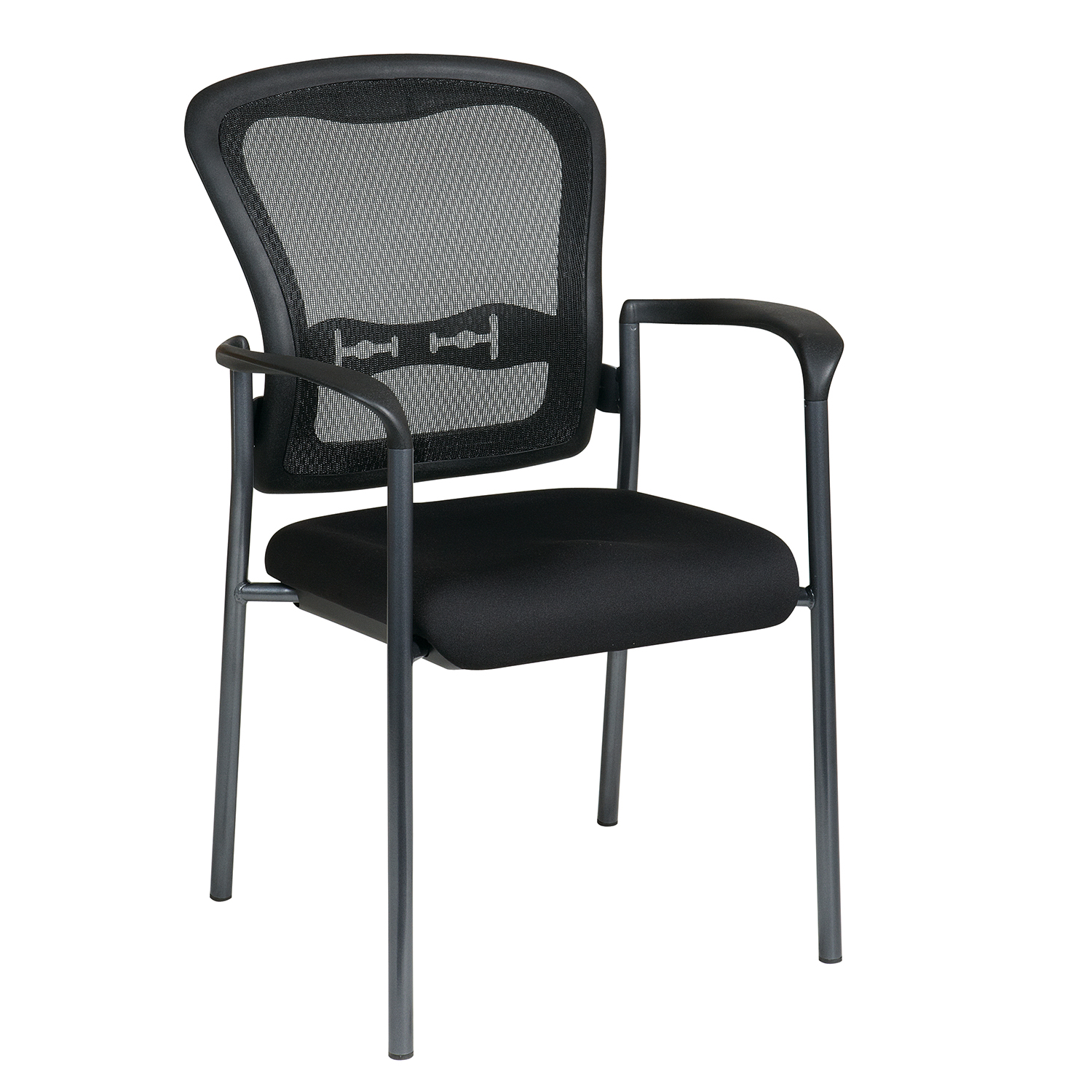 Titanium Finish Chair with Arms