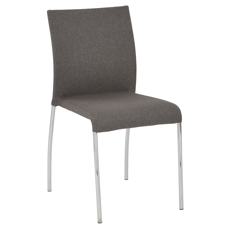 Smoke Gray Stacking Chair Set Of 2
