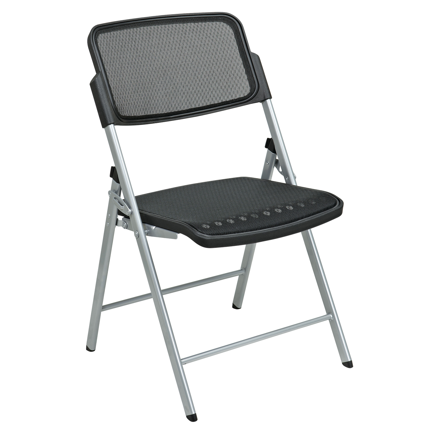 Deluxe Folding Chair Silver Set Of 2
