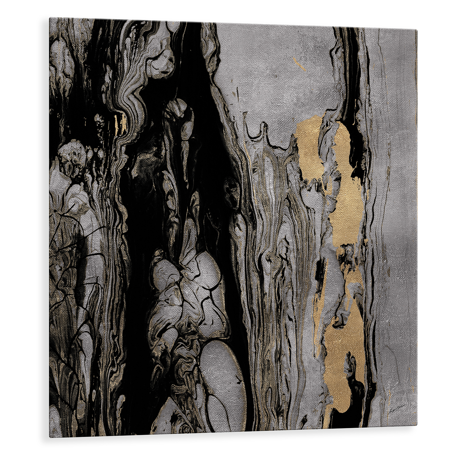 Elemental Gold Printed Aluminum Wall Art