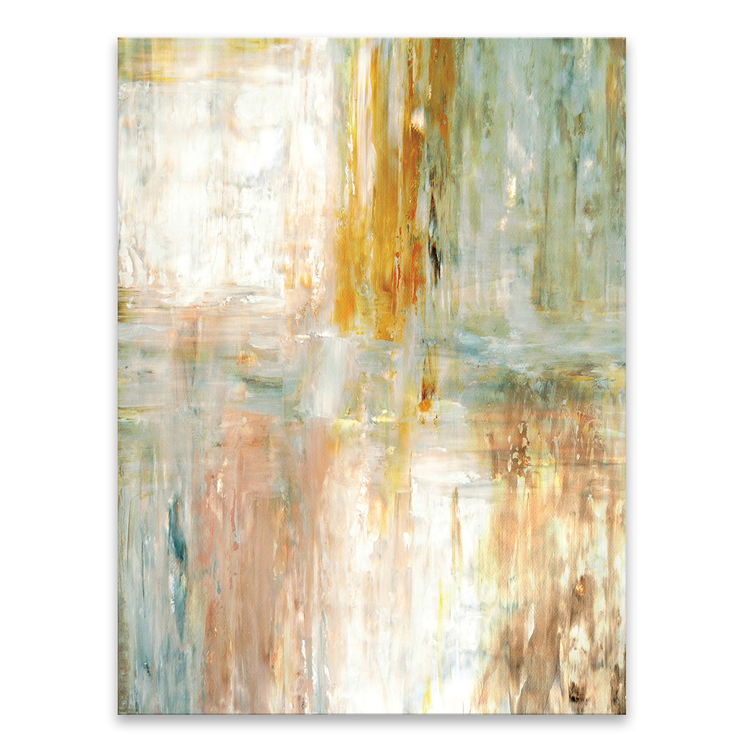 Teal & Green Abstract Printed Acrylic Wall Art