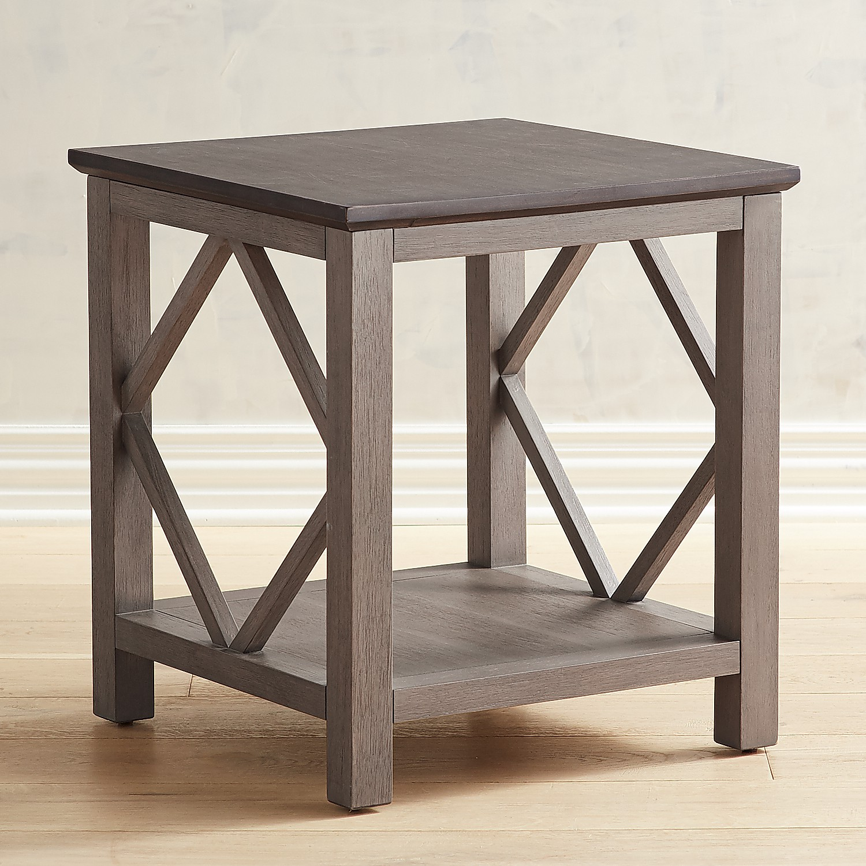 Diamond Tonal Gray End Table