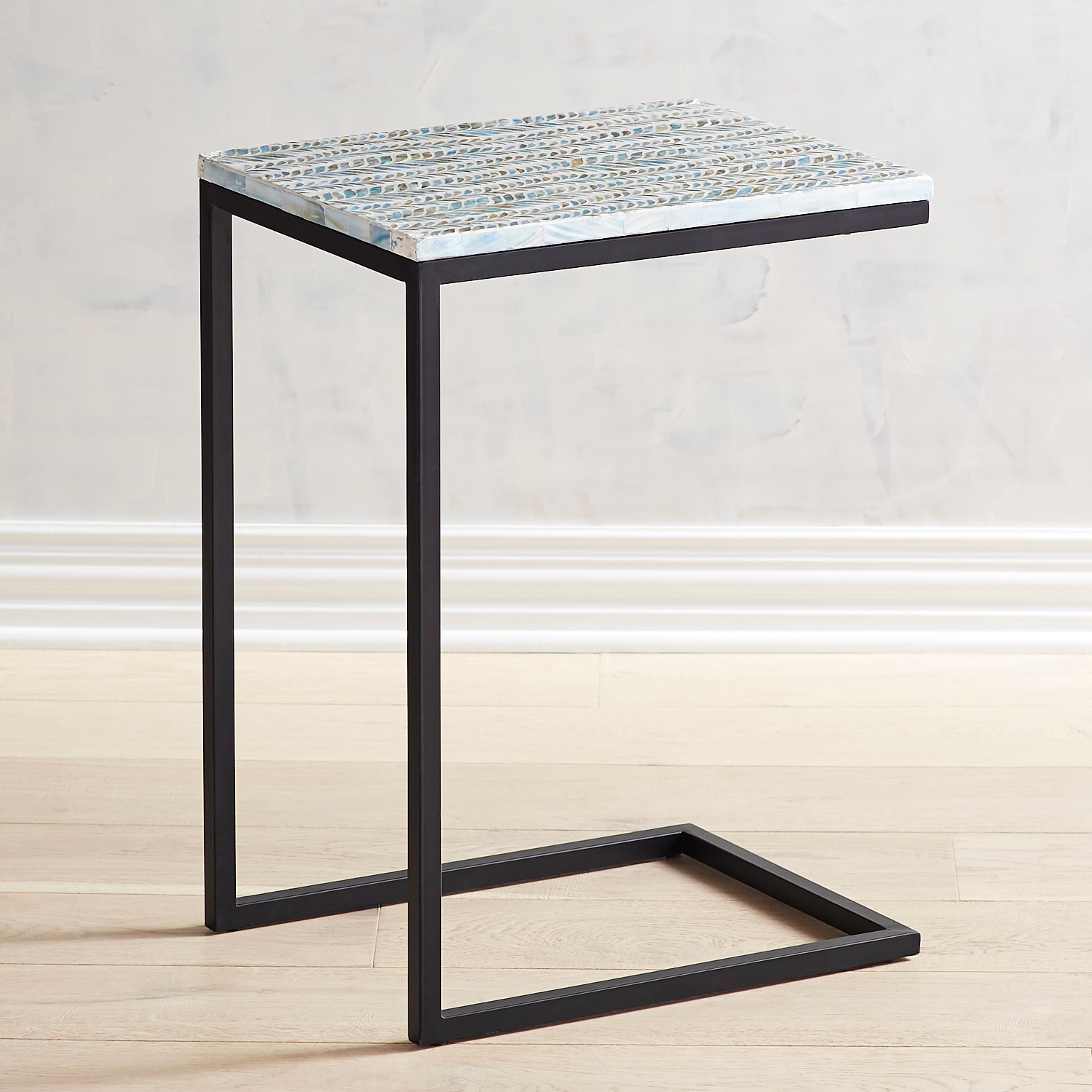 Mother-of-Pearl Teal C-Table