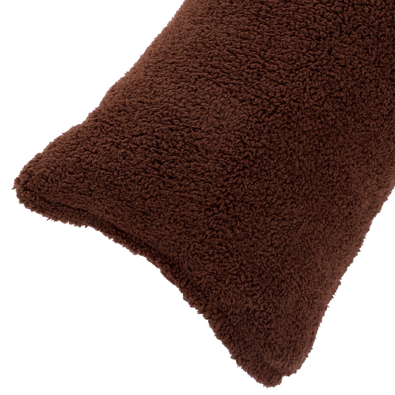 Brown Sherpa Pillowcase